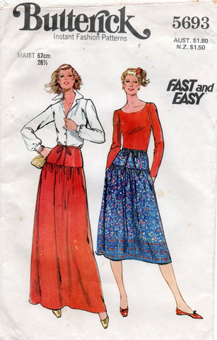 butterick 5693 70s skirts
