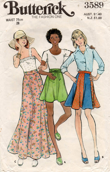 butterick 3589 70s skirts