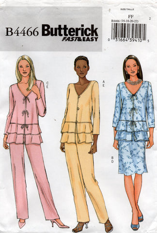 butterick 4466 summer separates oop
