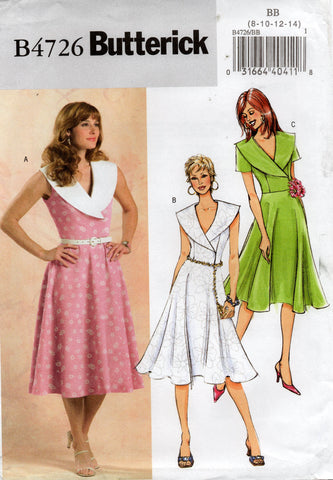 butterick 4726 retro dress oop