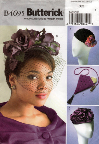 butterick 4695 hats and bag oop