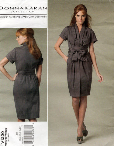 vogue 1220 dkny dress oop