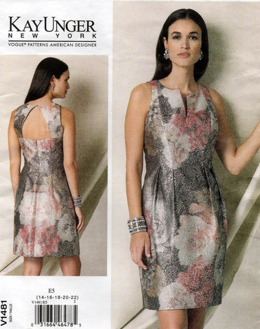 vogue 1481 kay unger oop dress