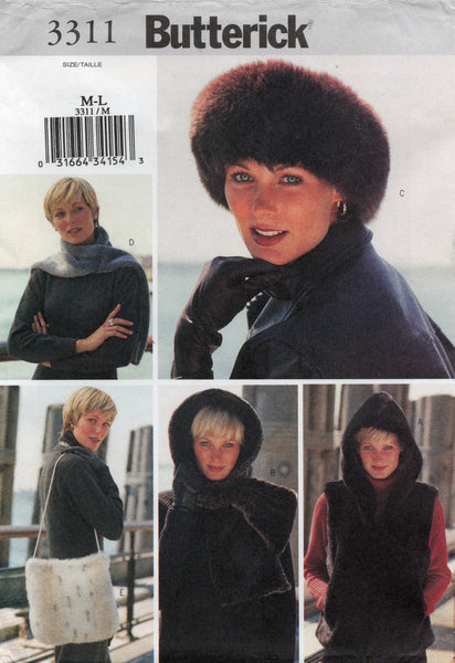 butterick 3311 winter accessories oop