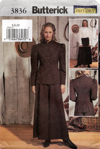 butterick 3836 historical riding costume oop