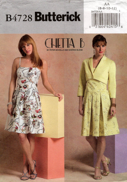 butterick 4728 chetta b dress and jacket oop