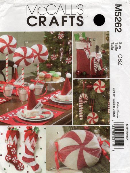mccall's 5262 christmas decorations oop