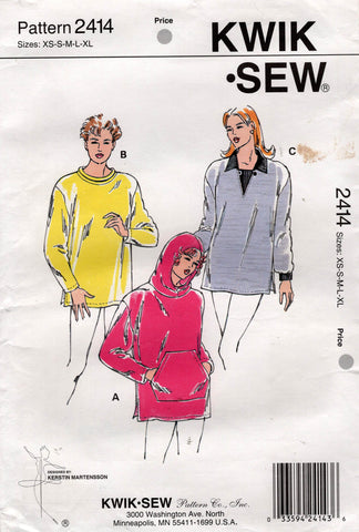 kwik sew 2414 90s pullover tunic tops