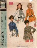 McCall's 9511 60s blouses