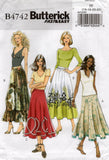 Butterick B4742 Womens Flared Skirts Out Of Print Sewing Pattern Sizes 8 - 14 or 16 - 22 UNCUT Factory Folds