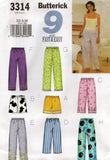 butterick 3314 oop camisole pants shorts
