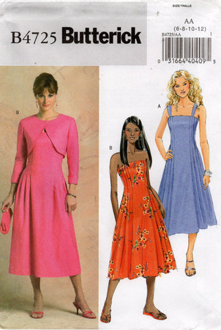 butterick 4725 dress and shrug oop