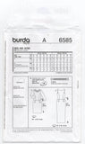 Burda 6585 Womens Straight Dress with Optional Collar OOP Sewing Pattern Sizes 8 - 18 UNCUT Factory Folded
