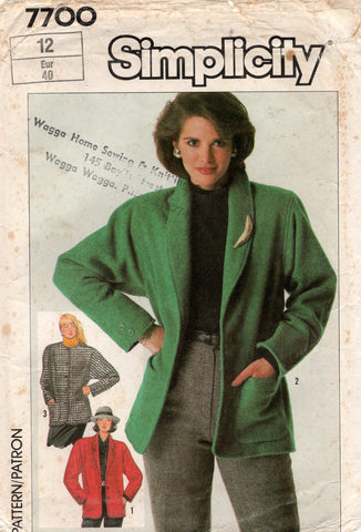 simplicity 7700 80s jackets