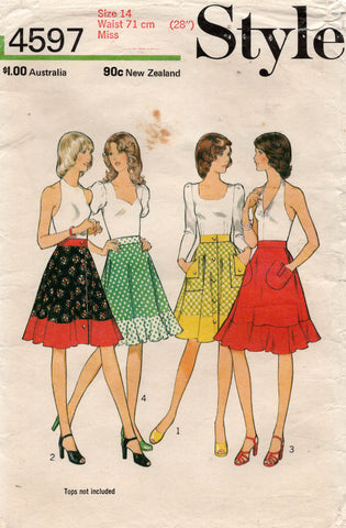 style 4597 70s skirts
