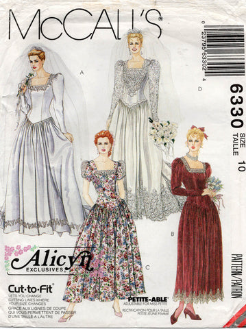 McCall's 6330 90s wedding dress