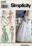 simplicity 8484 90s wedding dress