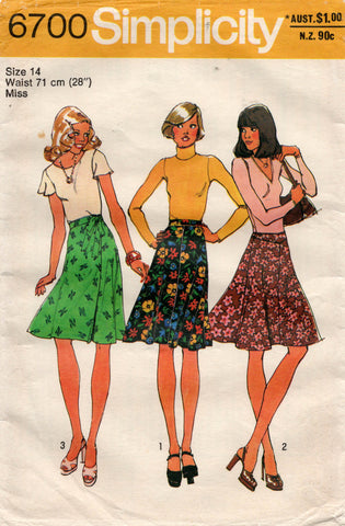 simplicity 6700 70s skirts