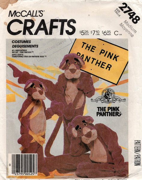 McCall's 2748 pink panther costume