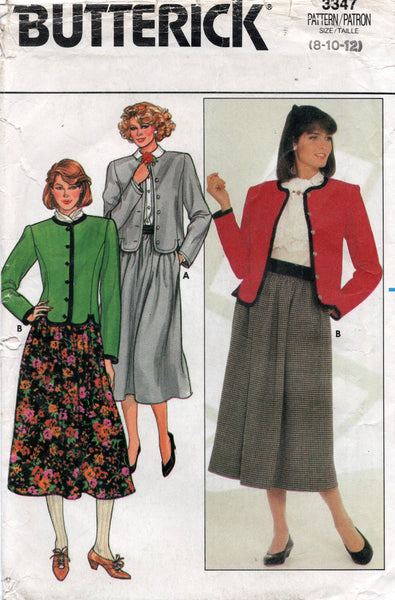 Butterick 3347 80s jacket and skirt