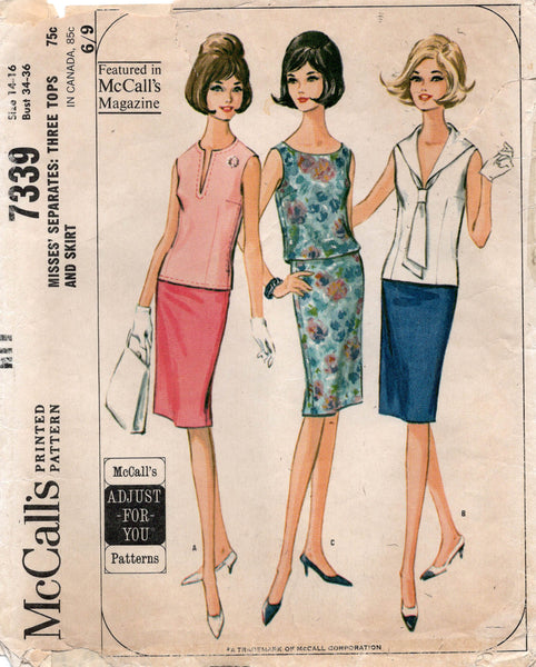 McCall's 7339 60s tops and skirts