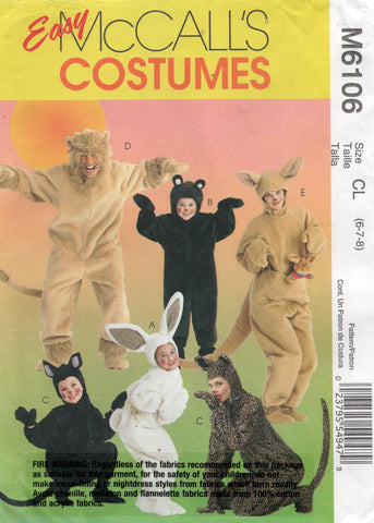 McCall's 6106 oop costumes for kids