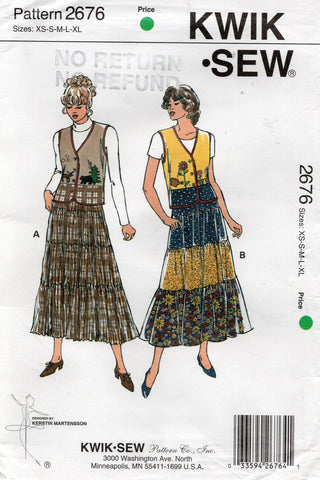 kwik sew 2676 90s vests and skirts