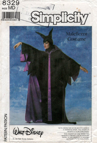 simplicity 8329 maleficent costume 80s