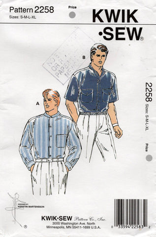 kwik sew 2258 mens shirts