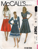 McCall's 7867 80s top and skirt