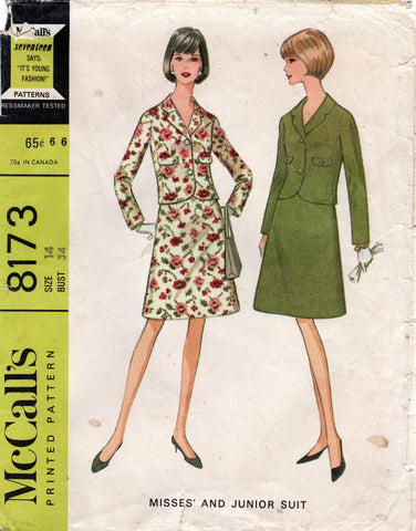 McCall's 8173 60s skirt suit