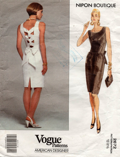vogue 2672 albert nipon 90s dress