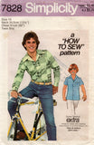 simplicity 7828 70s teen boys shirt