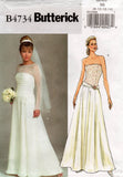 butterick 4734 wedding dress oop