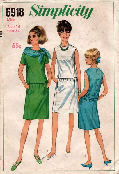 simplicity 6918 60s top and skirt