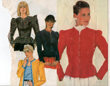 McCall's 8137 Womens Jackets with Peplum or Contrast Binding 1980s Vintage Sewing Pattern Size 8 or 10 UNCUT Factory Folded NO ENVELOPES