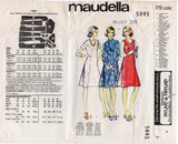Maudella 5895 Womens Princess Dress with Sleeve Variations 1960s Vintage Sewing Pattern Bust 36 inches UNUSED Factory Folds