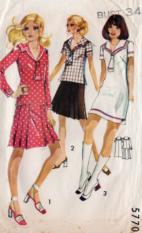 Maudella 5770 60s sailor dress tunic and skirt