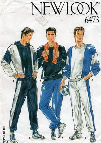 New Look 6473 mens tracksuit 80s