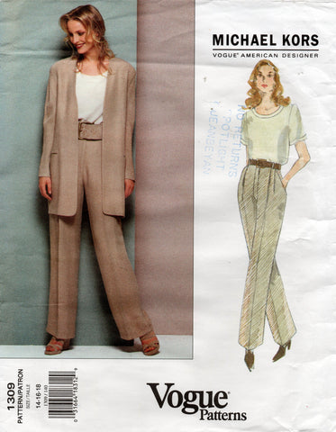 Vogue 1309 Michael Kors pants suit 90s