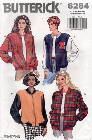 butterick 6284 90s college jacket