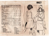 Mail Order 8927 Womens Midriff Band Dress & Wide Lapel Bomber Jacket 1960s Vintage Sewing Pattern Size 14 Bust 36 inches UNUSED Factory Folds
