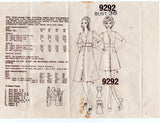 Mail Order 9292 Womens Empire Waisted Midriff Band Dress 1960s Vintage Sewing Pattern Size 14 Bust 36 inches UNUSED Factory Folds