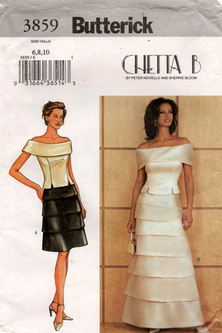 butterick 3859 chetta b top and skirt