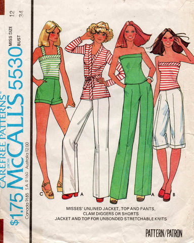 McCall's 5530 70s separates