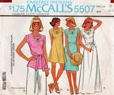 McCall's 5507 Womens Hippie Dress Maxi or Top 1970s Vintage Sewing Pattern Size 10 Bust 32 1/2 Inches