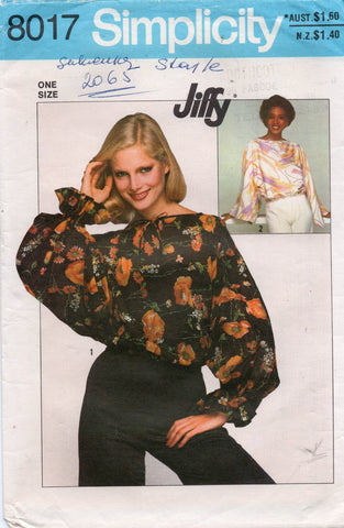 simplicity 8017 jiffy top 70s