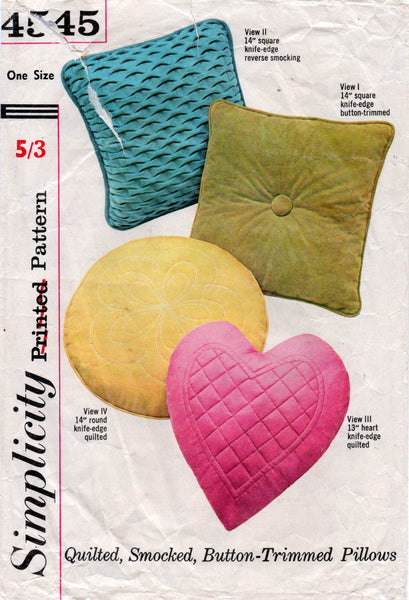simplicity 4545 60s pillow covers