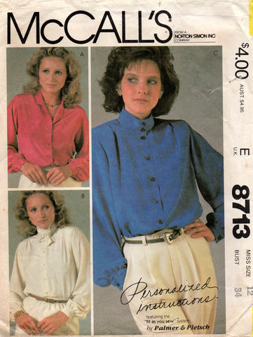McCall's 8713 80s blouse
