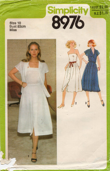 simplicity 8976 70s top shirt and skirt
